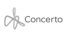 Concerto financial logo and branding