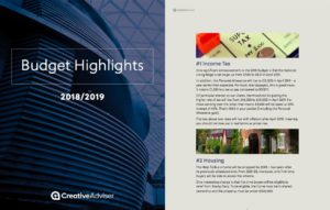 2018-2019 Budget Highlights Cover